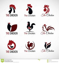 Illustration about Black red and brown Chicken logo vector set design. Illustration of farm, concept, cartoon - 64961885 Chicken Tattoo, Chicken Logo, Soul Chicken, Chicken Drawing, Chicken Restaurant Logos, Logo Restaurant, Foodtrucks Ideas, Rooster Logo, City Of God