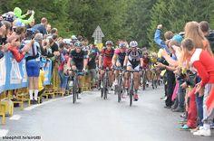 2014 tour-de-pologne photos stage-05 - Josh Edmondson (Team Sky), Steve Cummings (Bmc), Przemyslaw Niemec (Lampre - Merida), Warren Barguil (Giant - Shimano) leading the rest of the peloton in Strbske Pleso
