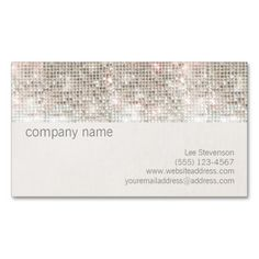 Silver Sparkle Sequin and Faux Linen Business Card. Make your own business card with this great design. All you need is to add your info to this template. Click the image to try it out!