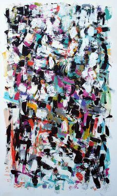 Julie Schumer Under the Sun, 60 X 36, acrylic on canvas