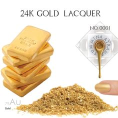 Real 24 Karat Gold Lacquer - MINE Luxury Nail Lacquer