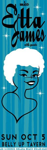 Miss Etta James ♡ (artist unknown).   Words can't define how much I love Etta.