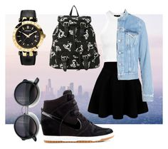"""""""Summer love"""" by captainmadeleinetaylor on Polyvore featuring NIKE, Topshop, Acne Studios, Versace, women's clothing, women's fashion, women, female, woman and misses"""