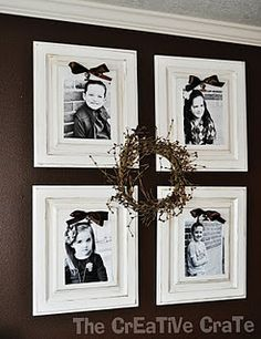 frames  LIKE THE DARK WALLS WITH CONTRAST OF WHITE FRAMES