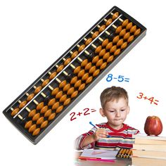 Plastic Abacus 15 Digits Arithmetic Tool Kid's Math Learn Aid Calculating Toys
