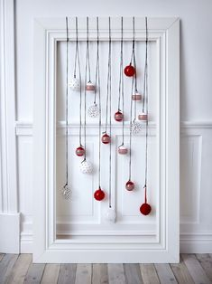 Different xmas decoration by Ikea Noel Christmas, Christmas Balls, All Things Christmas, Winter Christmas, Christmas Crafts, Christmas Ornaments, Hanging Ornaments, Simple Christmas, Ikea Xmas