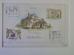 Home for Mr. E.B. Hedges, Westfield, MA, 1901, Original Plan. Cadwell&Crabtree.