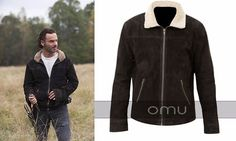 Rick Grimes Suede Leather Brown Jacket Visit here: http://ebay.to/2hINlBM  The Walking Dead Brown Fur Collar jacket has worn by Andrew Lincoln as Rick Grime in famous TV series. Avail this unique jacket now and get it on your doorstep. #thewalkingdead #thewalkingdeadamc