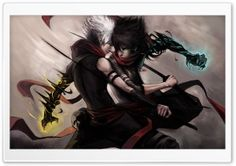 Anime Duel HD Wide Wallpaper for Widescreen