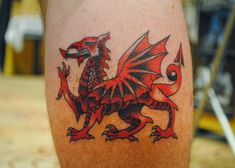 Welsh Dragon done at the Morgantown Tattoo Convention Dark Art Tattoo, Body Art Tattoos, I Tattoo, Sleeve Tattoos, Celtic Dragon Tattoos, Dragon Tattoo Designs, Welsh Tattoo, Tattoo Convention, Welsh Dragon