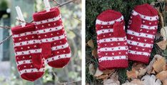 """Candy Knitted Children's Mittens Photo of a pair of red and white knitted mittens with hearts and text that says """"Candy Cane Knitted Kiddie Mittens, the . Mittens Pattern, Knit Mittens, Knitted Hats, Free Knitting, Knitting Patterns, Circular Knitting Machine, Double Pointed Knitting Needles, Drops Design, Hand Warmers"""