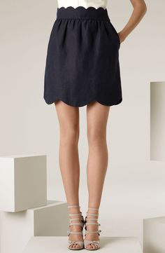 scalloped skirt on Stylehive. Shop for recommended scalloped skirt by Stylehive stylish members. Get real-time updates on your favorite scalloped skirt style. Estilo Fashion, Look Fashion, Ideias Fashion, Fashion Beauty, Womens Fashion, Fashion Shoes, Skirt Fashion, Cardigan Fashion, Fashion Black
