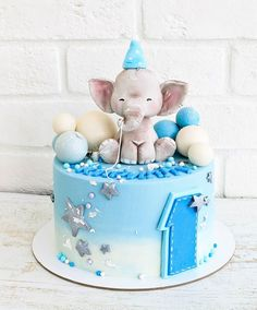 29 Ideas Baby First Tooth Cake For 2019 cake decorating recipes kuchen kindergeburtstag cakes ideas Baby Boy Cakes, Cakes For Boys, Cake 1 Year Boy, Baby First Birthday Cake, One Year Birthday Cake, 20th Birthday, Birthday Cake Kids Boys, Baby Elephant Cake, Tooth Cake