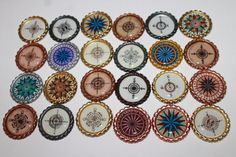 Compass Geocache Coins For Swag And Geocaching Trade by Weebledogs