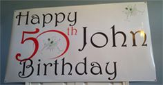 personalized banner for birthday 50th Birthday, Birthday Parties, Birthday Ideas, Welcome Home Banners, Personalized Birthday Banners, Graduation Banner, Photo Banner, Party Banners, Custom Banners