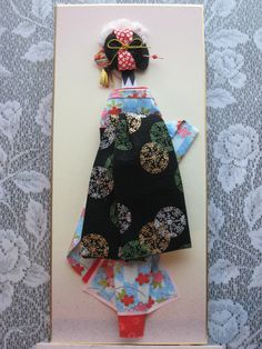 eBook How to make a Japanese paper doll..... Flat Maiko doll. $27.00, via Etsy.
