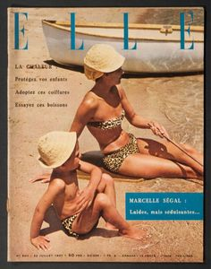 'ELLE' FRENCH MAGAZINE SUMMER ISSUE 22 JULY 1957 |