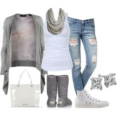 """Ugg's & sneakerz"" by #kimskienails on Polyvore.. My style! Chill."
