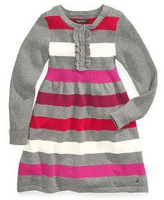 Nautica Girls Dress, Little Girls Striped Sweater Dress