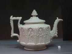 Teapot in the gothic style  Charles Meigh, England  Stoneware, 1840-50  Gift of Dr. Arthur Goldberg, 1991 91.96a.b
