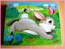 ♥Vintage♥Puzzle MB♥Spielzeug♥Häschen