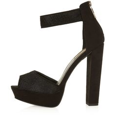 TOPSHOP LOVE Black Satin Strappy Heels ($70) ❤ liked on Polyvore featuring shoes, sandals, heels, zapatos, black, high heel shoes, black strap sandals, strappy platform sandals, black strappy sandals and strappy sandals