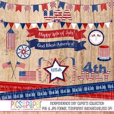 Independence Day, 4th of July Clipart Collection