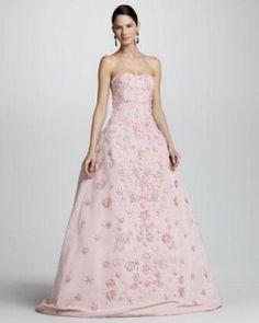 Women's Oscar De La Renta Strapless Floral-Applique Ball Gown by OSCAR DE LA RENTA