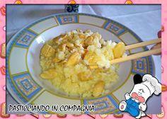 """Ricetta fusion: """"Risotto al profumo di cocco con filetto di maiale al curry e mandorle"""""""