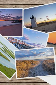 set of 6 blank 5x7 cards of Nobska Cape Cod Lighthouse Note Cards Long Point Sandy Neck Race Point and Stage Harbor Lighthouses