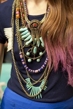 Love each necklace individually, but they all look pretty awesome all together <3
