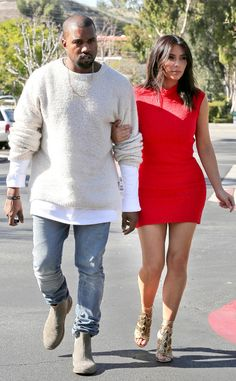 Kanye West & Kim KardashianThese two lovebirds head out for an early movie date at The Commons in Calabasas, Calif.