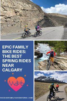 Epic Family Bike Rides: The Best Spring Rides near Calgary Alberta, Biking, Canada, Calgary, Banff, Kananaskis, Canmore Bike Trails, Hiking Trails, Biking, Canada Destinations, Parks Canada, Canadian Travel, Banff National Park, Calgary, Cool Places To Visit
