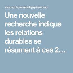 Une nouvelle recherche indique les relations durables se résument à ces 2…