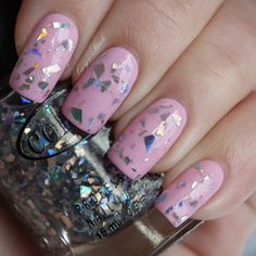 Color Club Blushing Rose, Diamond Drops http://www.lucysstash.com/2012/03/color-club-spring-2012-blossoming.html