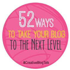 Continuing with the idea of growth, check out these essential tips for TAKING YOUR BLOG TO THE NEXT LEVEL: