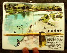 sketchbuch/One of my favorite urban sketchers! Beautiful work………..