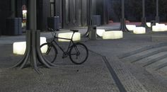 Illuminated benches in the Rotterdam Quarter, Talinn, Estonia. Click image for full profile and visit the slowottawa.ca baords >> http://www.pinterest.com/slowottawa/
