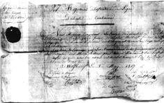 Patente manuscrite de cantinière datée du 1er mai 1807 (conservée à l'Empéri) :