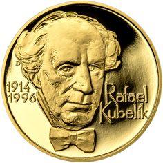 RAFAEL KUBELÍK - 100. VÝROČÍ NAROZENÍ ZLATO Wells, Orchestra, Coins, Personalized Items, Bandleaders, Coining, Band, Wels