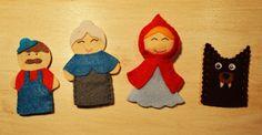 Caperucita Roja por feltfingerpuppets en Etsy