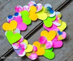 221339ab15 Make It Your Own paper heart valentine wreath Tissue Paper Wreaths, Doily  Garland, Preschool
