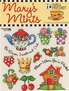 "Leisure Art Mary Engelbreit ""Mary's Minis"" Cross Stitch Booklet"