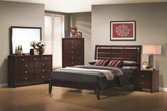 cherry wood furniture bedroom decor ideas cherry bedroom furniture color colored living room wall wood furn decorating cakes with strawberries King Bedroom Sets, Queen Bedroom, Bedroom Furniture Sets, Bedroom Decor, Kitchen Furniture, Furniture Stores, Ikea Bedroom, Cheap Furniture, Bella Furniture