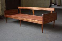 Smoldering Danish Midcentury Modern Solid Rosewood Platform Sofa Daybed (Denmark, 1950s) | by Kennyk@k2modern.com