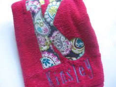 Totally awesome towel for when she gets a little bigger ~ $18.00