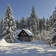 Czech Republic - Northern beauty in the Jizera Mountains Prague Czech Republic, Winter Photos, European Countries, Day And Time, Cottage Style, Beautiful Places, Mountains, Landscape, House Styles