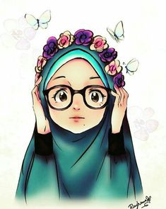 - scarf is Anime Muslim, Muslim Hijab, Hijab Drawing, Islamic Cartoon, Hijab Cartoon, Islamic Girl, Muslim Girls, Cute Chibi, Illustration Girl