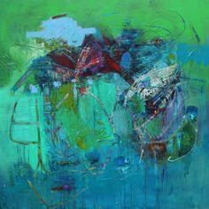 Acrylic On Canvas 40 by 40 Artist Leslie Newman