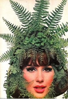 Brigitte Bauer as Summer, photo by Bert Stern for Vogue, 1965
